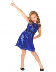 Discokjole blå med stor sløjfe pige