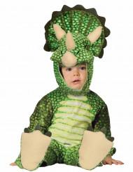 Dinosauruskostume grøn triceratops baby