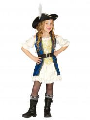 Blåt piratkaptajnskostume Barn
