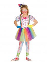 Kostume klovn farveplettet til piger