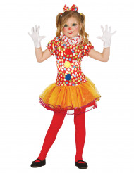 Kostume klovn multifarvet med tutu til piger