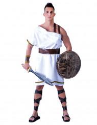 Hvidt Sparta kostume voksen