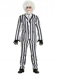 Kostume stribet sort og hvid til mænd