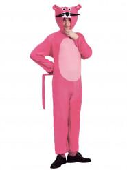 Lyserød tegnet panter kostume voksen