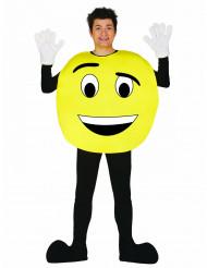 Tilpasningsdygtigt emoji kostume voksen