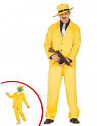 Gul gangster kostume voksen