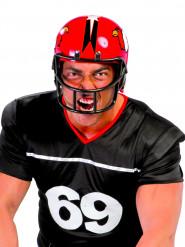 Hjelm amerikansk fodboldspiller ørne rød til voksne