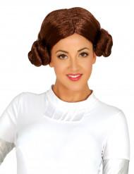 Paryk rumprinsesse brunt hår til kvinder