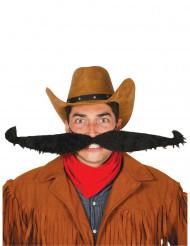 Maxi overskæg sort 55 cm til voksne