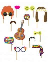 Kit photobooth hippie 12 stk