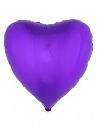 Ballon aluminium hjerte lilla 45 cm