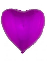 Ballon aluminium hjerte fichsia 45 cm