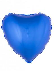 Ballon aluminium hjerte blå 45 cm