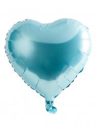 Ballon aluminium blåt hjerte 46 cm