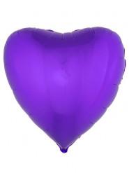 Ballon aluminium hjerte violet 76 cm
