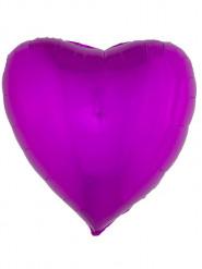 Ballon aluminium hjerte fuchsia 76 cm