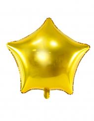 Ballon aluminium stjerne guld 45 cm
