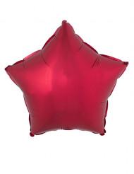 Ballon aluminium rød stjerne 53x46 cm