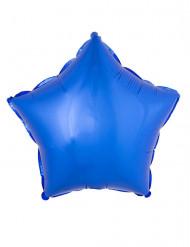 Ballon aluminium stjerne blå 45 cm