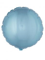 Ballon aluminium rund turkis 45 cm