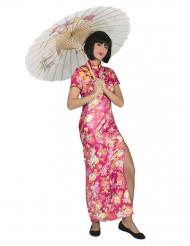 Kostume japaner i rose blomster