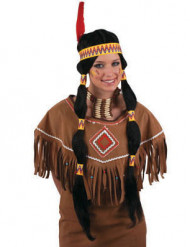 Paryk lang sort indiansk til kvinder