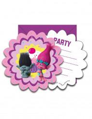 6 Invitationer + konvolutter Trolls™