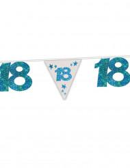 Guirlande blå med glimmer 18 år