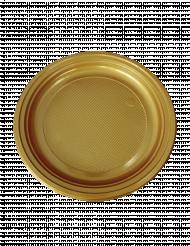 30 Plastiktallerkener i guld 22 cm