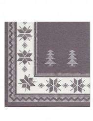 12 Papirservietter Premium Gråbrun 40 x 40 cm