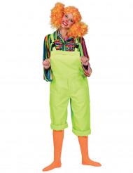 Kostume heldragt neon grøn til voksne