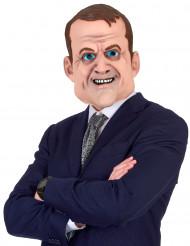 Humoristisk latexmaske Emmanuel Macron til voksne