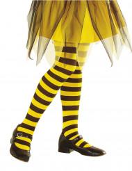 Strømpebukser gul og sort stribede til børn