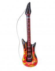 Guitar rock med flammer oppustelig 105 cm