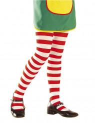 Strømpebukser stribede røde og hvide til børn
