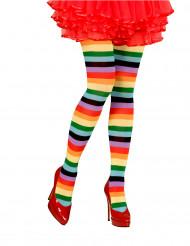 Strømpebukser multifarvede til voksne