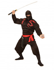 Sort muskuløs ninja kostume voksen