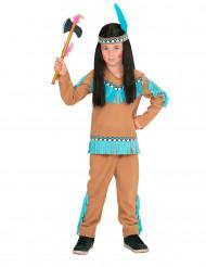 Kostume lille indianer brun og blå til drenge