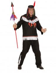 Kostume indianer sort og hvidt til mænd
