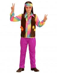 Kostume hippie flerfarvet pastel til drenge