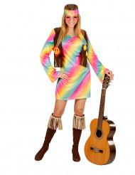 Pastel hippiekostume voksen