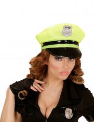 Kasket politi gul til voksne