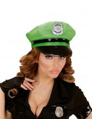 Kasket politi grøn til voksne
