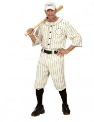 Baseballspiller kostume herre