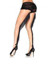 Strømpebukser hudfarvede med frynser cabaret luksus til kvinder