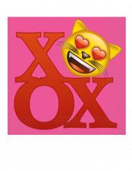 20 emoji servietter 33x33 cm