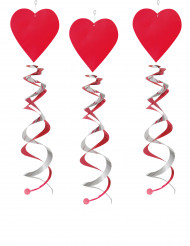 3 spiraler med røde hjerter