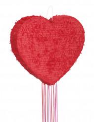 Rød hjerteformet pinata 56 cm