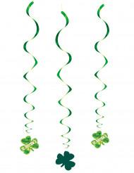 3 Hængende dekorationer spiraler St Patrick