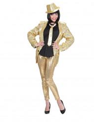 Guldfarvede leggings med pailletter voksen
